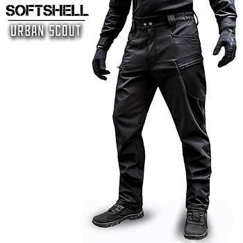 "Брюки SoftShell ""URBAN SCOUT"" BLACK"