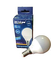 Лампа світлодіодна LED (куля), 5Вт Природній білий, (E14), G45, 220B