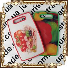 Доска разделочная 37*23*1 см. пластм. 3D фрукты/ 3D овощи № 42
