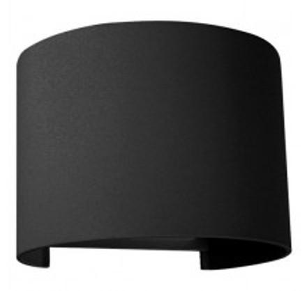 Фасадний вуличний світильник DH013 2х3W чорний з регульованим кутом світіння IP54 Код.59332