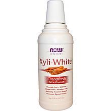 """Ополаскиватель для полости рта NOW Foods, Solutions """"XyliWhite Mouthwash"""" вкус корицы (473 мл)"""