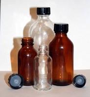Бутыль для х/р (темное стекло, притертая пробка, узкое горло)