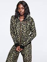 Спортивная Кофта Victoria's Secret PINK Full-Zip S, Зеленый Леопард