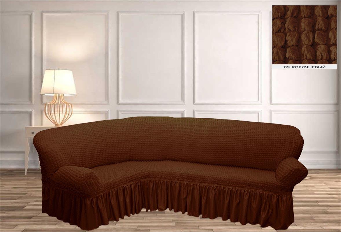 Покрывало Чехол на угловой диван  Коричневый