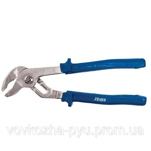 Клещи переставные для труб 250мм с синими ручками Sigma (4102951)