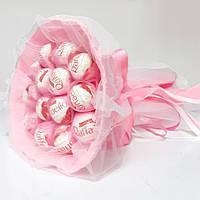 Букет из конфет Рафаэлло 15 розовый, фото 1
