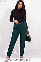 Женские классические брюки в больших размерах зауженные 1uk253
