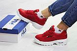 Кросівки жіночі зимові червоні, фото 4