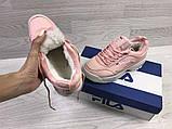 Кроссовки женские зимние розовые, фото 4