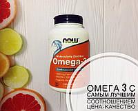 Рыбий жир для сердца и сосудов 200 шт Now Foods Омега-3, официальный сайт