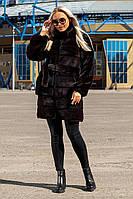 Шуба Шиншилла №37-Д с утеплителем черный, фото 1