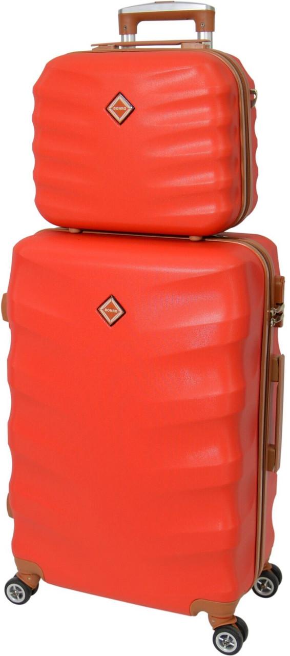 Комплект чемодан и кейс Bonro Next большой. Цвет красный.