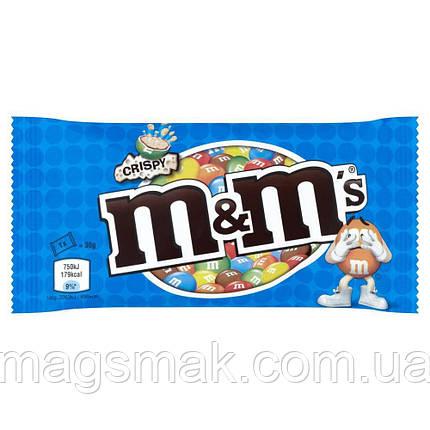 Драже M&M's с рисовыми шариками в молочном шоколаде 77г, фото 2