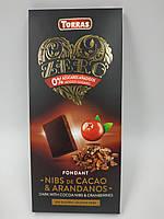Шоколад Torras 125g с клюквой