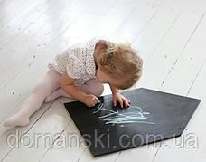 Доска для рисования мелом домик. Мольберт детский, игрушка. Детская меловая доска. 100х60см без рамки, фото 3