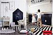 Доска для рисования мелом домик. Мольберт детский, игрушка. Детская меловая доска. 100х60см без рамки, фото 6