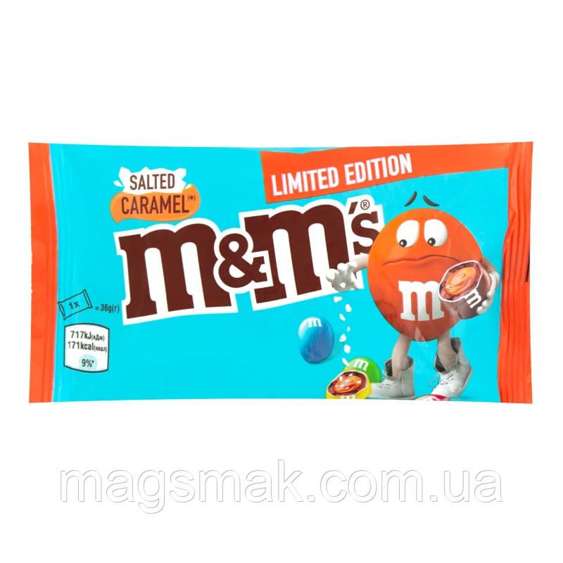 Драже M&M's с соленой карамелью 36г