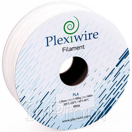 PLA пластик для 3D принтера 1.75мм белый (400м / 1.185кг), фото 2