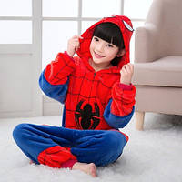 Пижама Кигуруми Человек Паук / Спайдермен на молнии микрофибра (велсофт) детский