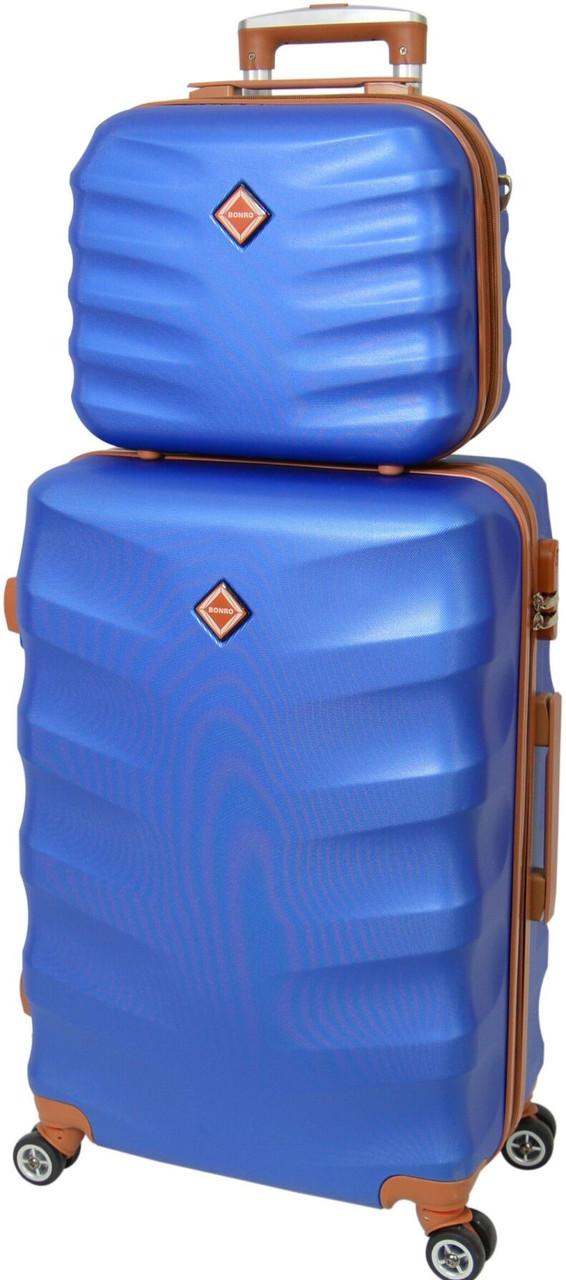 Комплект валізу і кейс Bonro Next великий. Колір синій.
