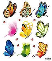 Декоративная наклейка бабочки  (21х16см)