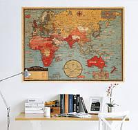 Декоративная  Карта мира  (70х50см) плакат, фото 1