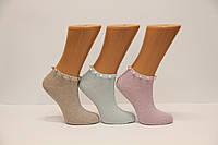 Женские носки короткие с камушками и люрексом DMP-311