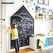 Доска для рисования мелом домик. Мольберт детский, игрушка. Детская меловая доска. 100х60см с рамкой, фото 5