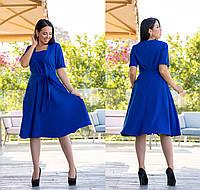 Платье батал NOBILITAS 50 - 56 синее (арт. 19041)