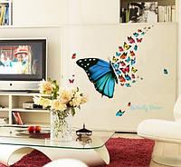 Набор декоративных наклеек бабочки  (82х56см), фото 1