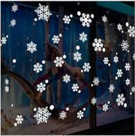 Набор новогодних наклеек -  Снежинки   (100х50см), фото 1