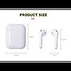 Бездротові навушники i5 TWS Touch Bluetooth V5.0 Білі, фото 7