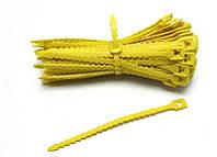 Ремешок для подвязки растений многоразовый садовый желтый  Everplast  17,7 см упаковка 100 шт.