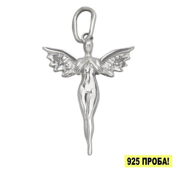 """Серебряный кулон """"Ангел"""" - Ангел из серебра, сделанный в виде подвески."""