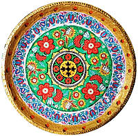 "Декоративная тарелка диаметром 42 см ""Вічна Україна. Літо""  шамотной трипольской глины станет изысканным"