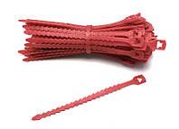 Ремешок для подвязки растений многоразовый садовый красный  Everplast  17,7 см упаковка 100 шт.