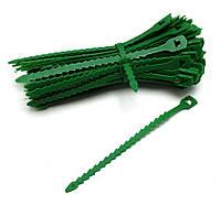 Ремешок для подвязки растений многоразовый садовый зеленый  Everplast  17,7 см упаковка 100 шт.