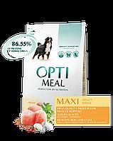 Optimeal Maxi Adult Dog сухой корм для взрослых собак крупных пород с курицей, 1,5кг