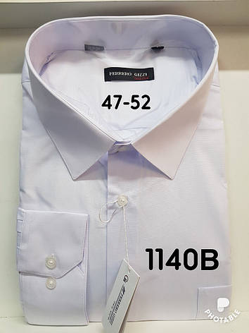 Однотонная батальная рубашка Ferrero Gizzi -1140, фото 2