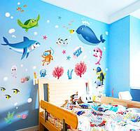 Интерьерная наклейка Подводный мир  (140х100см), фото 1
