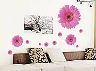 Интерьерная наклейка Розовые герберы  (110х50см), фото 1