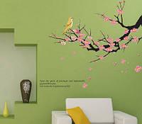 Интерьерная наклейка Ветка цветущего дерева  (100х60см), фото 1
