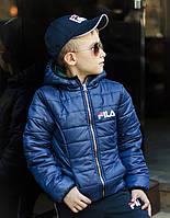 Двухсторонняя демисезонная куртка для мальчика Плащевка на силиконе Рост 122 128 134 140 146 152