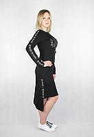 Женское демисезонное платье Philipp Plein черным цветом, фото 1