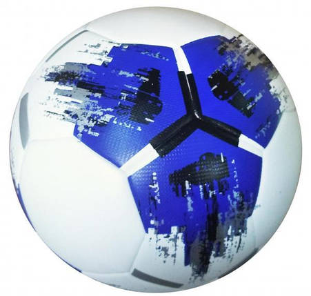 Мяч футбольный Competition Ball бело-сине-черный [№4] ,  [№5], фото 2