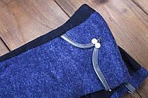 Женские стрейчевые перчатки синие 9-1805-3, фото 2