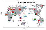 Інтер'єрна наклейка Карта світу (100х60см), фото 2