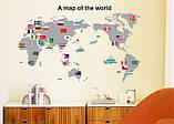 Інтер'єрна наклейка Карта світу (100х60см), фото 5