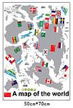 Інтер'єрна наклейка Карта світу (100х60см), фото 6