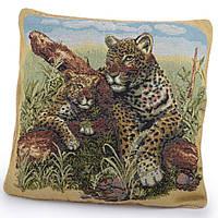 Наволочка гобеленовая 45х45 см Два леопарда (47603.001)